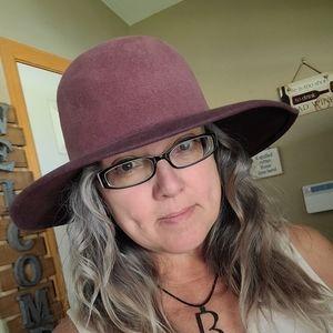Patricia Underwood Plum Felt Boho Hat